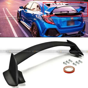 Fits 16 19 Honda Civic 10th X 5dr Hatchback Type R Unpainted Trunk Wing Spoiler