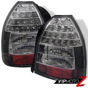 For 96 00 Honda Civic 3d Hatchback Black Left right Led Tail Light Lamp Assembly