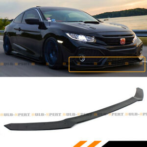 For 17 2020 Civic Hatchback Fk Si Hfp Style Gloss Blk Front Bumper Lip Spoiler