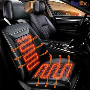 12v Electric Carbon Fiber Warm Heating Seats Pad Car Heated Seat Cushion Usship
