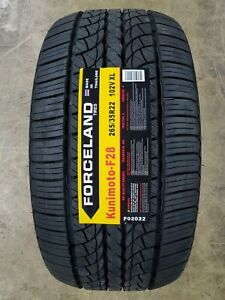 265 35r22 Forceland Kunimoto F28 102v Xl Set Of 4