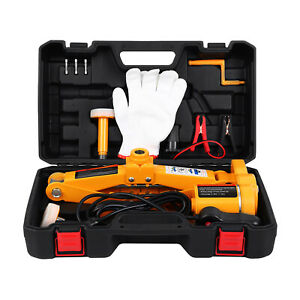 3 Ton 12v Car Electric Hydraulic Floor Jack Lift Set All in one Automatic Suv