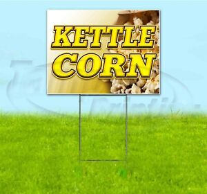 Kettle Corn 18x24 Yard Sign With Stake Corrugated Bandit Usa Business Treat