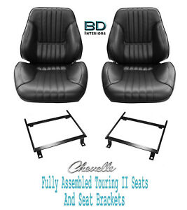 1968 Chevelle El Camino Touring Ii Assembled Front Bucket Seats Brackets