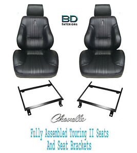 1970 Chevelle El Camino Touring Ii Assembled Front Bucket Seats Brackets