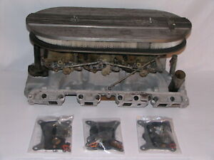 Rare Original M code 6v 3x2 Tri power Intake Carburetors 62 63 Ford Thunderbird