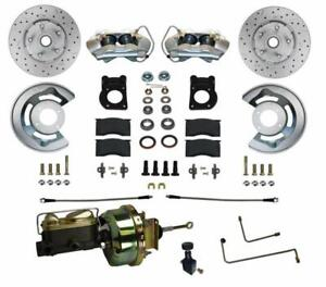 Leed Brakes Fc0001 h405ax Disc Brake Front Conversion Power Assist Cross drilled