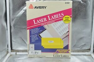 Avery Easy Peel Address Labels Laser 1 X 2 5 8 5160 3000 Labels 100 Sheets