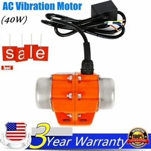 Electric 110v Vibrator Motor Single Phase 40w 3600 Rpm Apply In Mining