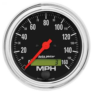 Autometer Traditional Chrome Series Speedometer 0 160 Mph 3 3 8 Dia Electrical