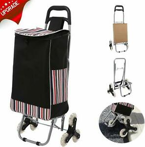 Folding Shopping Cart Grocery Stair Climbing Trolley Cart Large capacity Laundry