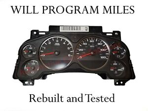 2007 2012 Gmc Chevy Speedometer Instrument Cluster Dash 25799989 any Miles