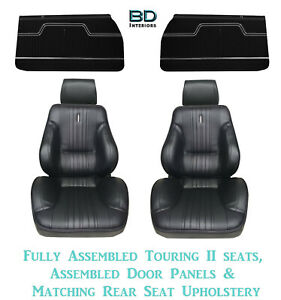 1970 Chevelle Touring Ii Front Bucket Seats Assembled Door Panels Rear Cover