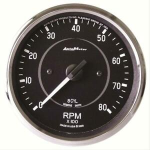 Autometer Cobra Tachometer 0 8 000 4 Dia In dash Black Face 201004