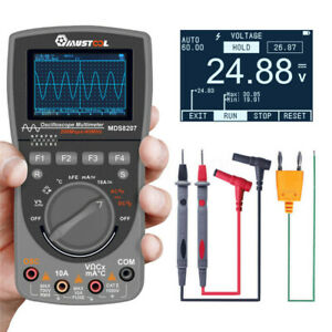 Upgraded Mustool Mds8207 2in1 40mhz Digital Multimeter Oscilloscope