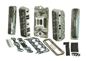 Top End Kit Shp Assembled Heads Intake Valve Covers Head Bolts Gaskets Chevy Sma