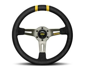 Momo Italy R1907 33s Racing Steering Wheels Mod Drift Black Suede