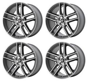 2013 Mustang Boss 302 Laguna Seca Dr3z 1007 B Oem 19 Staggered Wheels Charcoal