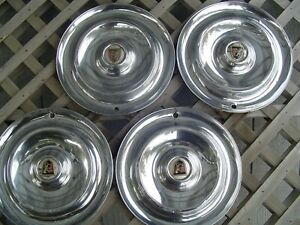 1956 56 Chrysler New Yorker Hubcaps Wheel Covers Antique Vintage Classic Antique