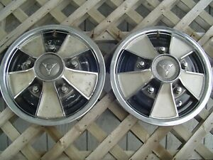 Two Vintage 1967 67 Dodge Dart Chrysler Plymouth Charger Hubcaps Wheel Covers