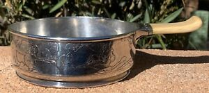 Tiffany Co Sterling Silver Child S Porringer Etched Fairies Cherry Blossoms
