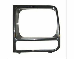 Sherman 076 95al Driver Headlight Door Bezel Fits 1997 2001 Jeep Cherokee