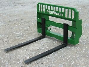 48 5 500 Pound Heavy Duty Pallet Fork Attachment Fits John Deere 600 700 Series