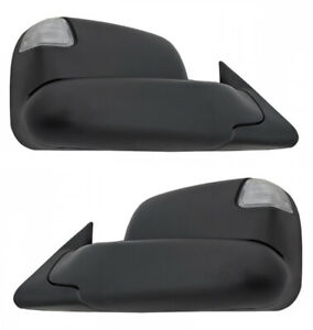 New Set Of Manual Towing Mirrors With Turn Signals For 2002 2008 Dodge Ram 1500