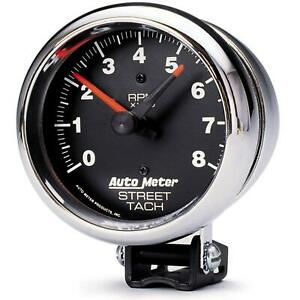 Autometer Performance Series Street Tachometer 0 8 000 3 3 4 Dia Black Face 2895