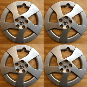 4x Replacement Hubcap For Toyota Prius 2010 2011 15 Inch Hubcap W