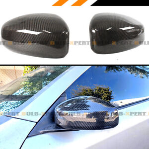 For 2003 2007 Infiniti G35 Coupe Carbon Fiber Jdm Direct Add on Mirror Cover Cap