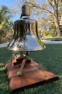 Old Rare Us Navy Ship Bell Brass Bronze Usn Pre Wwii United States Nautical Boat