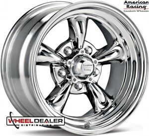 American Racing Vn615 Torque Thrust 15x4 15x6 Chrome Wheels Rims 1955 Bel Air