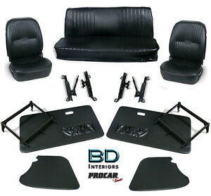 Complete Front Seat Interior Kit For 1956 1976 Vw Karmann Ghia 80 1403 Scat