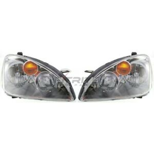 New Set Of Two Halogen Head Lamp Assembly Fits Nissan Altima 2002 2004
