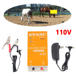 Electric Fence Energizer Charger For Ranch Animals Raccoon Dog Horse Cattle Usa