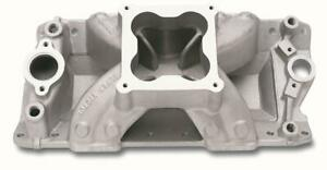 Edelbrock Super Victor Intake Manold Chevy S283 327 350 Fits Stock Heads 2970
