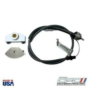 Clutch Cable Conversion Adjustable Aluminum Quadrant Ford Mustang T 5 Kit