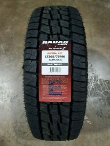 Lt265 75r16 Radar Rivera A t 123 120s 10ply Load E set Of 4