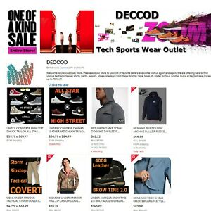 Established Ebay Business Sports Clothing Store Deccod com For Sale