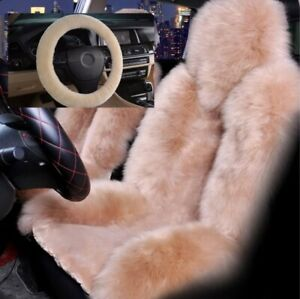 3x Universal Fur Wool Furry Fluffy Thick Car Steering Wheel Cover Free Ship Kit