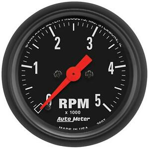 Autometer Z series Tachometer 0 5 000 2 1 16 Dia Black Face 2697