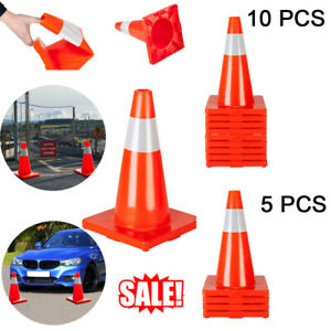 5 10pcs 18 Orange Safety Traffic Cones Trucks And Road Safety Parking Cone