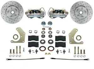 Leed Brakes Fc2001smx Disc Brake Kit Front Conversion Cross drilled Slotted