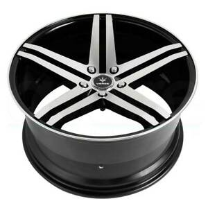 19x8 5 Gloss Black Machined Wheels Verde V39 Parallax 5x114 3 32 Set Of 4