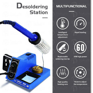 60w 110v Digital Soldering Station Iron Kit Led Display Variable Temperature Pid