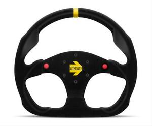 Momo Italy R1960 32shb Racing Steering Wheels Mod 30 Black Suede W Buttons