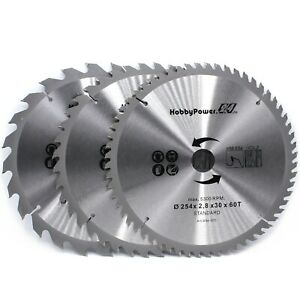 3x Set Hm Circular Saw Blades Saw Kapp Sage Table Saw 10x1 3 16in 24 40 60z