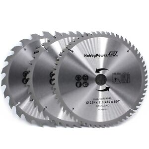 3x Set Hm Circular Saw Blades Saw Kapp Sage Table Saw For G de 10x1 3 16in