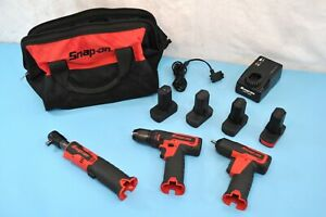 Snap On Cdr761a Drill Ct725a Impact Ctr761c Ratchet 14 4v Power Tools Set